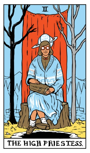 twin-peaks-tarot-the-high-priestess-log-lady